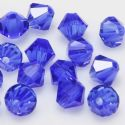 Crystal beads, Auralescent Crystal, Crystal, Dark blue , Faceted Bicones, Diameter 6mm, 15 Beads, [ZZB048]